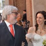 la sposa con il suo papà