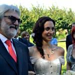 la sposa con i genitori