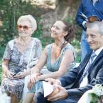 i genitori e la nonna dello sposo