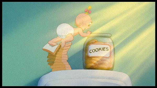 baby herman a caccia di biscotti